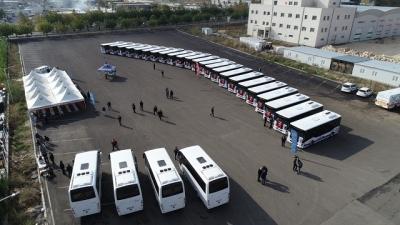 Toplu taşıma filosuna 27 otobüs daha