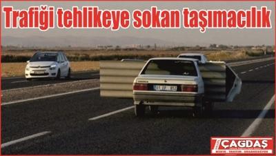 Trafikte zor anlar!
