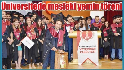 Üniversitede Mesleki Yemin Töreni