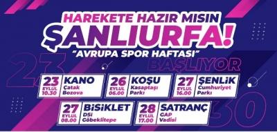 Urfa'da Avrupa Spor Haftası Başlıyor